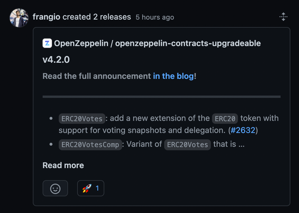 Openzeppelin Contracts Upgradeable 4.2.0 Release